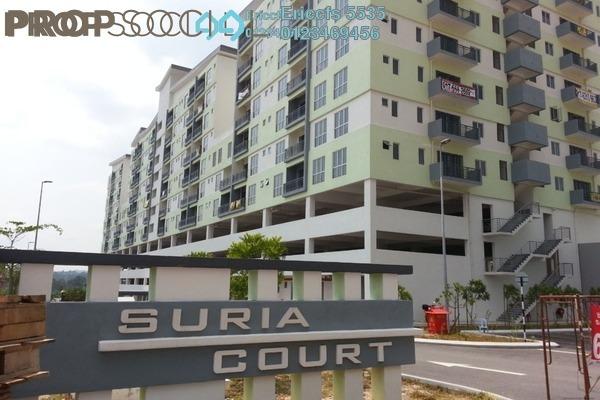 For Sale Apartment at Suria Court, Bandar Mahkota Cheras Freehold Semi Furnished 3R/2B 385k