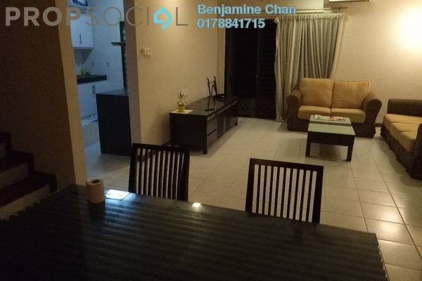 For Rent Townhouse at Parkville Garden Townhouse, Sunway Damansara Leasehold Fully Furnished 3R/4B 2.4k