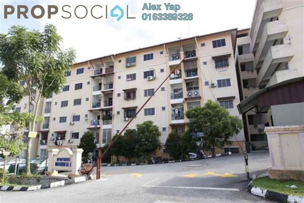 For Sale Apartment at Section 2, Bandar Mahkota Cheras Freehold Semi Furnished 3R/2B 300k