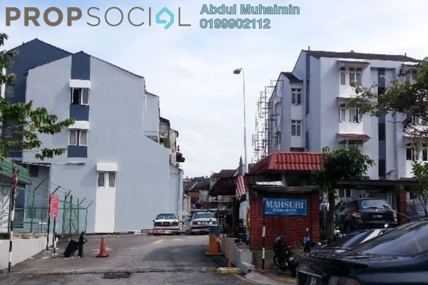 For Sale Apartment at Mahsuri Apartment, Setiawangsa Freehold Semi Furnished 3R/2B 330k