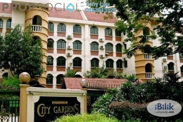 For Rent Condominium at City Gardens, Bukit Ceylon Leasehold Fully Furnished 3R/2B 2.8k