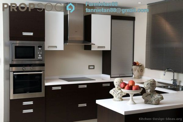 Kitchen cabinets modern two tone 048a s24915097 black white peninsula lbp6j2hjbswxkzjc ygt small