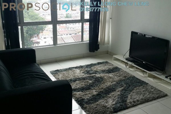 For Rent Serviced Residence at Casa Tiara, Subang Jaya Freehold Fully Furnished 3R/2B 2k