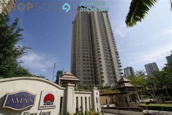 For Rent Condominium at Mont Kiara Aman, Mont Kiara Freehold Semi Furnished 4R/4B 7.5k