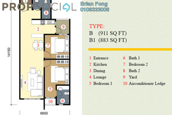 For Rent Serviced Residence at Pearl Suria, Old Klang Road Leasehold Unfurnished 2R/2B 1.6k