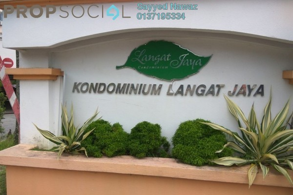 For Sale Condominium at Langat Jaya, Batu 9 Cheras Freehold Semi Furnished 3R/2B 284k