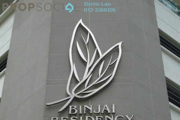 For Rent Condominium at Binjai Residency, KLCC Freehold Semi Furnished 3R/2B 10.0千