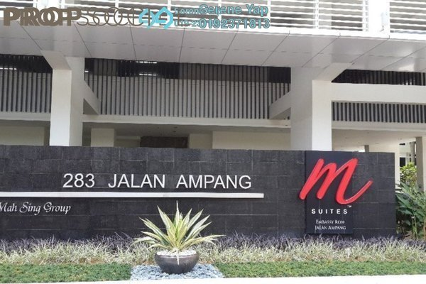 For Sale Condominium at M Suites, Ampang Hilir Freehold Fully Furnished 1R/1B 950k