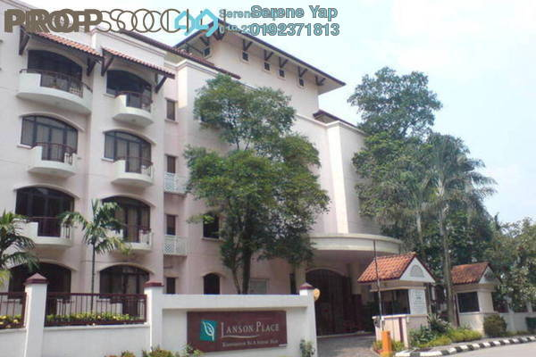 For Rent Condominium at Lanson Place, Bukit Ceylon Freehold Semi Furnished 4R/3B 6.5k