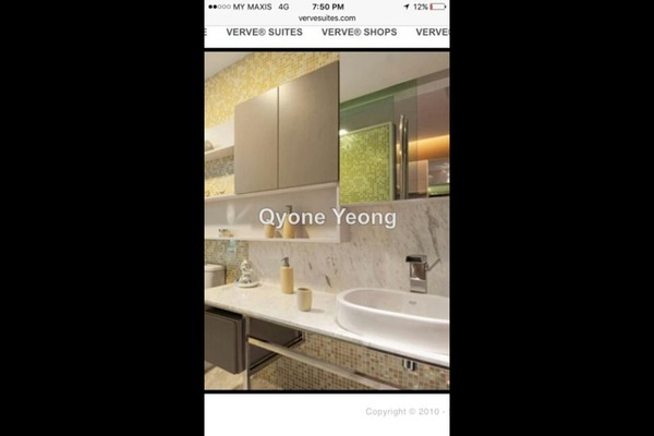 For Rent Condominium at VERVE Suites, Mont Kiara Freehold Fully Furnished 2R/2B 5k