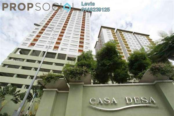 For Rent Apartment at Casa Desa, Taman Desa Freehold Fully Furnished 3R/2B 2.5k