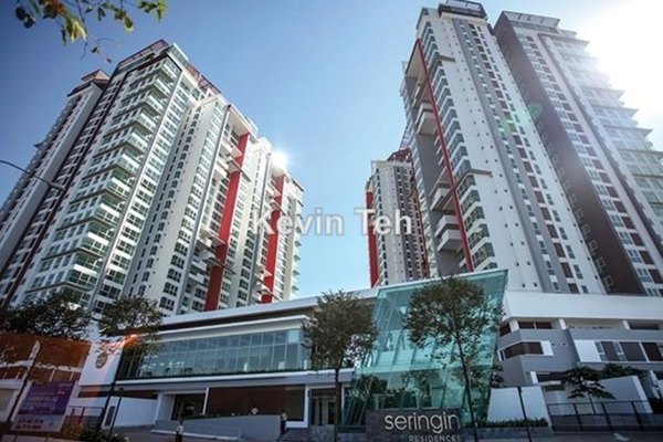 For Rent Condominium at Seringin Residences, Kuchai Lama Freehold Semi Furnished 2R/3B 3k