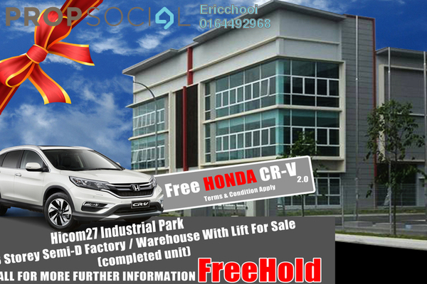 For Sale Factory at Hicom Glenmarie, Glenmarie Freehold Unfurnished 0R/0B 4.95m