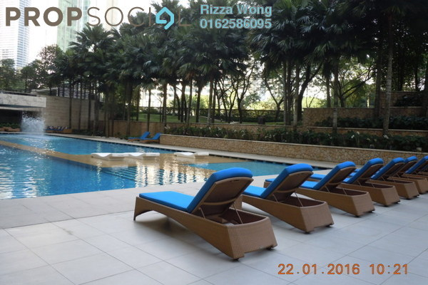 For Rent Condominium at The Binjai On The Park, KLCC Freehold Semi Furnished 3R/4B 12k