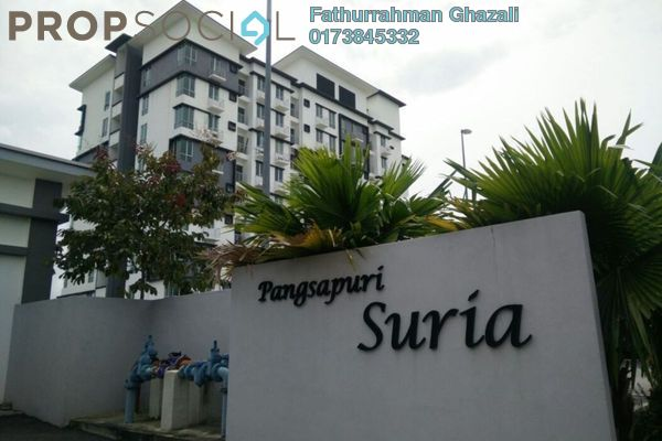 For Sale Apartment at Suria Apartment, Kota Damansara Leasehold Semi Furnished 3R/2B 465k
