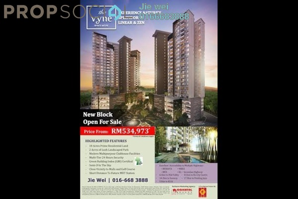 For Sale Condominium at The Vyne, Sungai Besi Leasehold Semi Furnished 2R/2B 535k