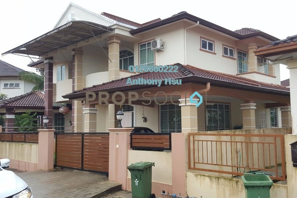 For Sale Semi-Detached at Taman Janting, Kuching Leasehold Semi Furnished 4R/3B 590k