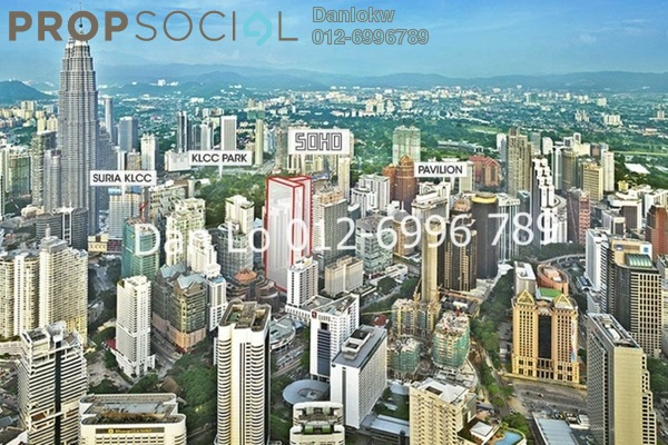 For Rent Office at Soho Suites, KLCC Freehold Semi Furnished 1R/1B 2k