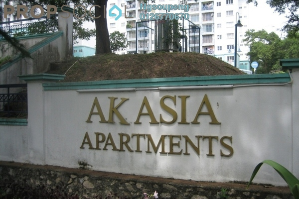 For Sale Apartment at Akasia Apartment, Pusat Bandar Puchong Freehold Semi Furnished 3R/2B 330k