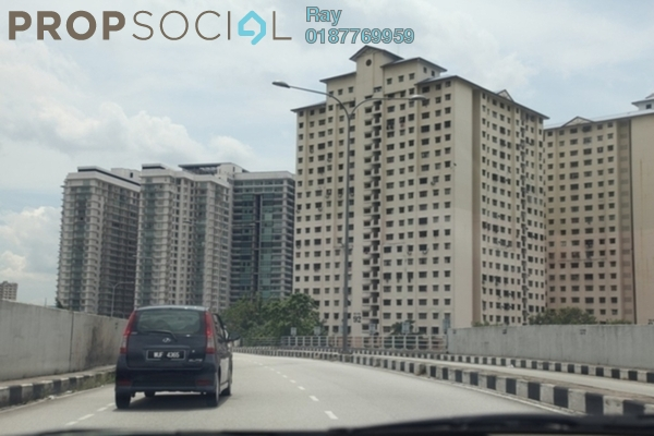 For Rent Condominium at Putra Ria Apartment, Bangsar Freehold Semi Furnished 3R/2B 1.5k