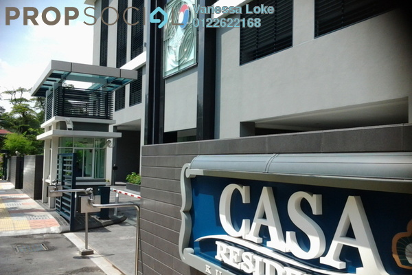 For Rent Condominium at Casa Residency, Pudu Freehold Fully Furnished 2R/2B 2.3k