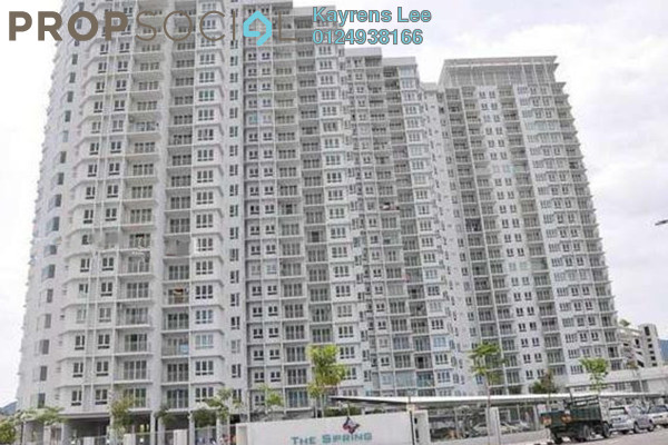 For Rent Condominium at The Spring, Jelutong Leasehold Fully Furnished 3R/2B 1.6k