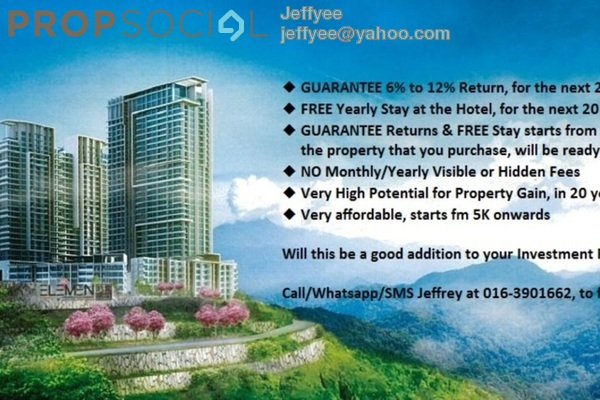 For Sale Condominium at Ion Delemen, Genting Highlands Freehold Fully Furnished 1R/1B 300k