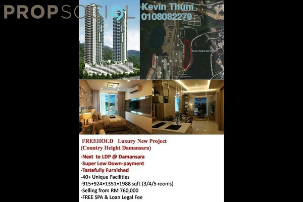 For Sale Condominium at Hampton Damansara, Kuala Lumpur Freehold Semi Furnished 3R/2B 780k