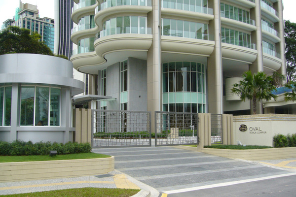 For Rent Condominium at The Oval, KLCC Freehold Semi Furnished 4R/3B 13k