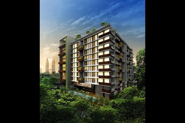 For Rent Condominium at Katana II, Ampang Hilir Freehold Semi Furnished 4R/2B 10k