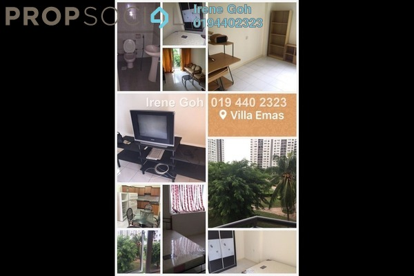 For Rent Condominium at Villa Emas, Bayan Indah Leasehold Fully Furnished 3R/2B 1.5k