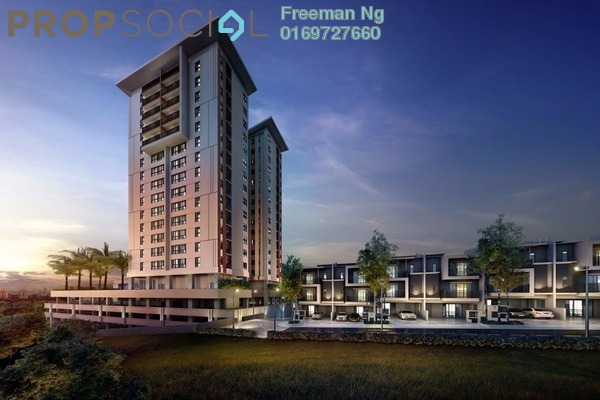 For Sale Condominium at Damai Puri, Kepong Freehold Semi Furnished 3R/2B 1m