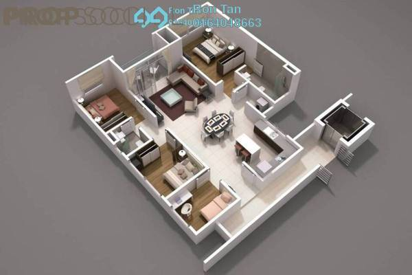 For Sale Condominium at D'Mansion, Gelugor Freehold Unfurnished 3R/2B 960k