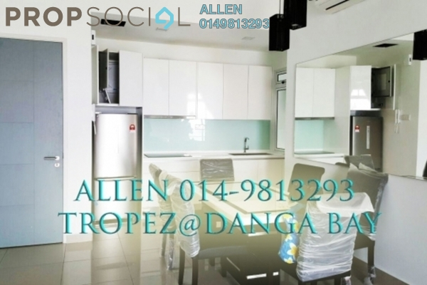 For Rent Condominium at Tropez Residences, Danga Bay Freehold Fully Furnished 3R/3B 3.6k