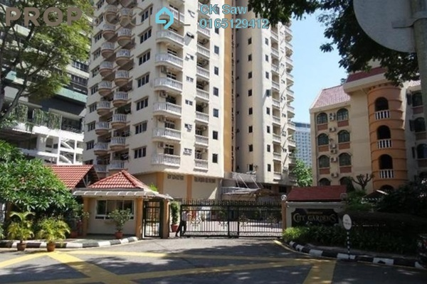 For Rent Condominium at City Gardens, Bukit Ceylon Leasehold Fully Furnished 3R/2B 2.3k