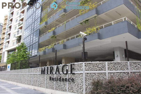 For Rent Condominium at Mirage Residence, KLCC Freehold Fully Furnished 1R/1B 5.5k