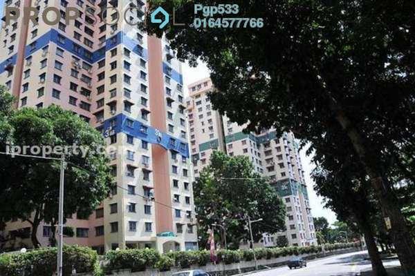 For Sale Apartment at Taman Pekaka, Sungai Dua Freehold Semi Furnished 3R/2B 400k