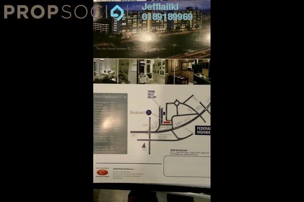For Sale SoHo/Studio at Park 51 Boulevard, Petaling Jaya Leasehold Semi Furnished 0R/1B 328k