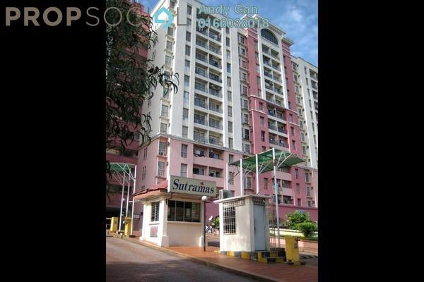For Sale Apartment at Sutramas, Bandar Puchong Jaya Freehold Semi Furnished 3R/2B 300k