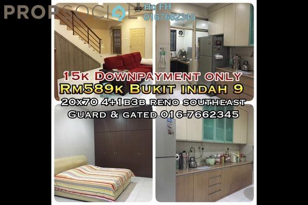 For Sale Terrace at Taman Bukit Indah, Bukit Indah Freehold Semi Furnished 4R/3B 589k