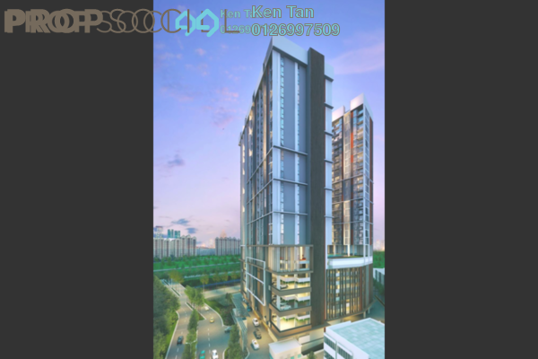 For Sale Condominium at Oasis Ara Damansara, Ara Damansara Freehold Semi Furnished 1R/1B 430k
