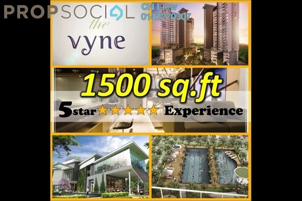 For Sale Condominium at The Vyne, Sungai Besi Leasehold Unfurnished 2R/2B 530k