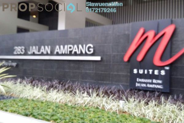 For Sale Condominium at M Suites, Ampang Hilir Freehold Fully Furnished 1R/1B 1.1m