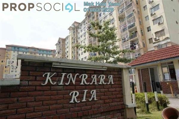 For Rent Apartment at Kinrara Ria, Bandar Kinrara Leasehold Semi Furnished 3R/2B 1.2k