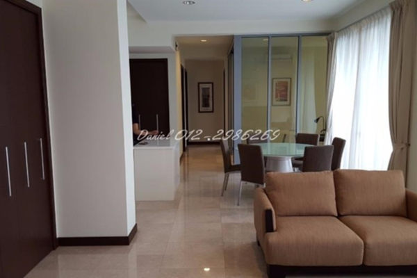 For Rent Condominium at Hampshire Residences, KLCC Leasehold Semi Furnished 3R/4B 8.5k