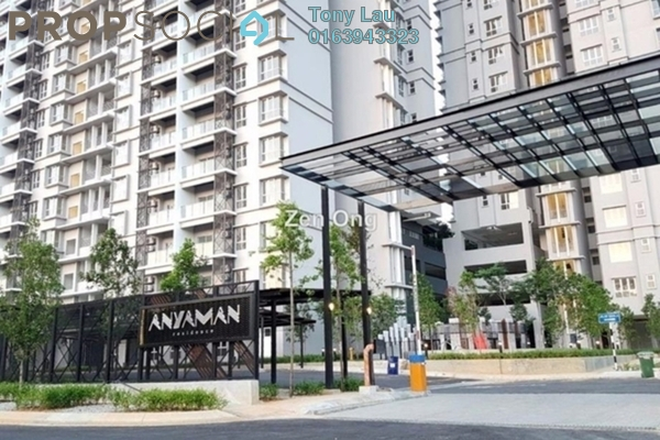 For Sale Condominium at Anyaman Residence, Bandar Tasik Selatan Freehold Semi Furnished 3R/2B 550k