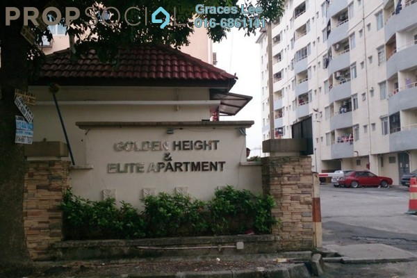 For Rent Apartment at Elite Apartment, Puchong Leasehold Fully Furnished 3R/2B 1.2k