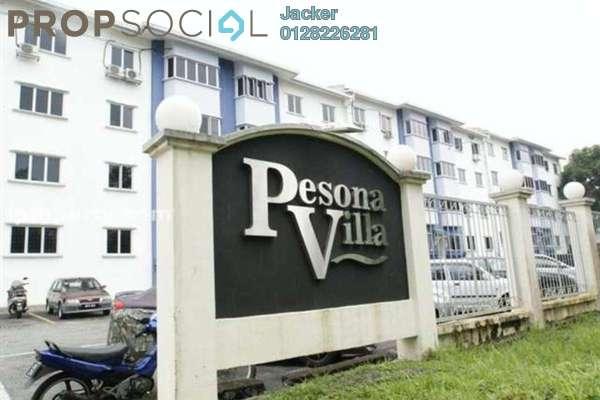 For Rent Condominium at Pesona Villa, Kemensah Freehold Unfurnished 3R/2B 1.2k