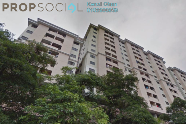For Rent Condominium at Bougainvilla, Segambut Freehold Fully Furnished 3R/2B 1.4k