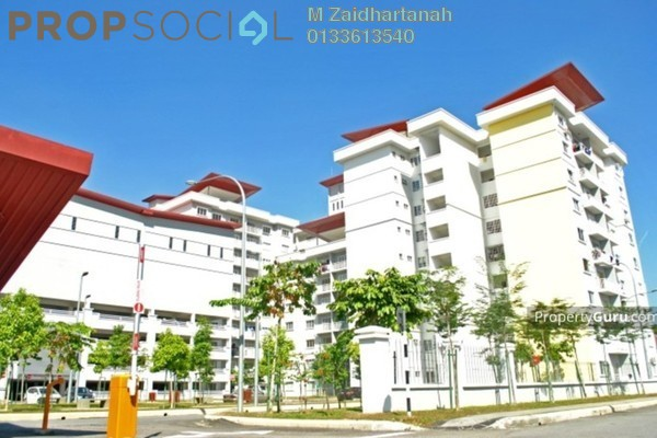 For Sale Condominium at Kristal Heights, Shah Alam Leasehold Unfurnished 3R/2B 430k